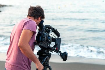 operador de camara de cine
