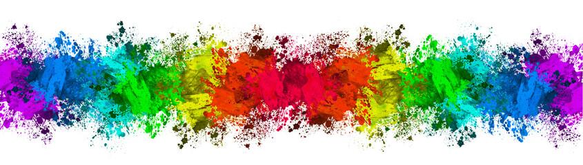 Multi-Color Paint Splatter Border/Background