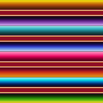 Serape Seamless Pattern - Colorful Mexican fabric repeating pattern design