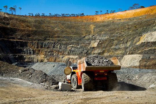 Truck from Underground Mine