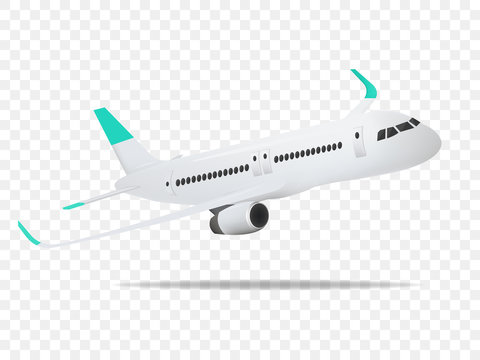 Plane vector,Plane on the transparent background,concept of plane,vector illustration.
