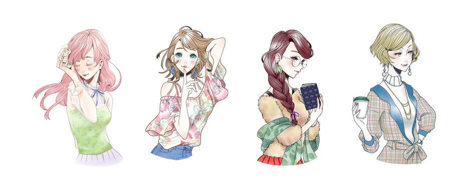 バストアップ 女性 春夏秋冬 ファッション