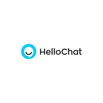 hello chat app logo design