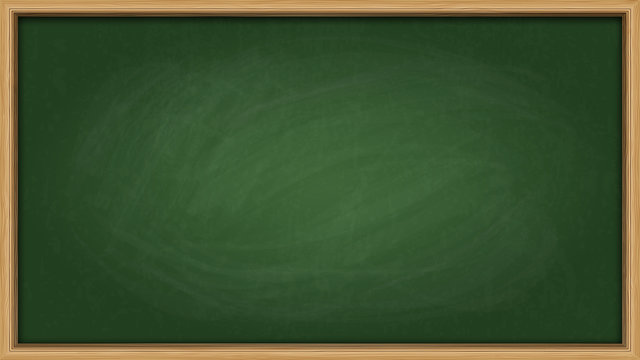 Green slate chalk board