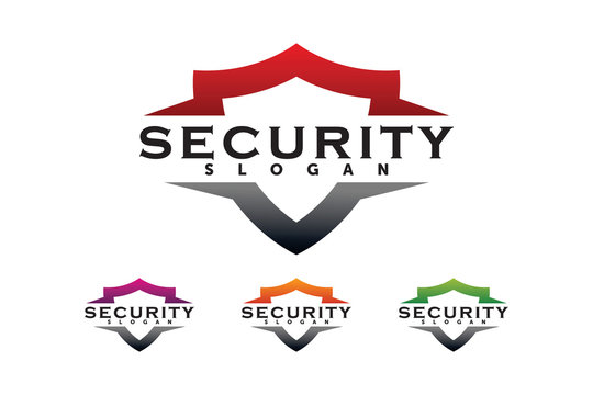 shield security logo company template element