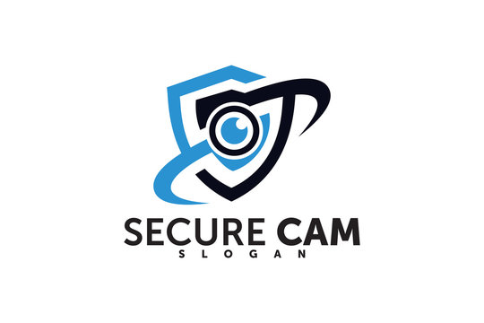 camera shield security logo company template element