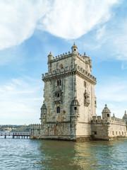 Belem Tower of Saint Vincent (Torre de Belem) Is A Fortified Tower In Lisbon, Portugal