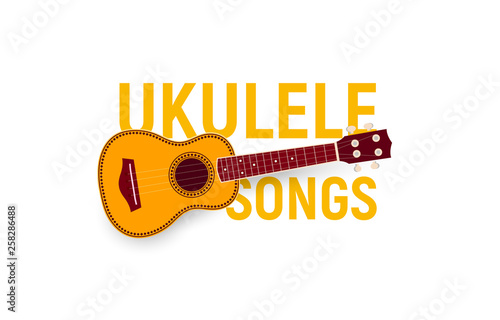 Musical instrument icon  Ukulele songs chords, songbook, music fest