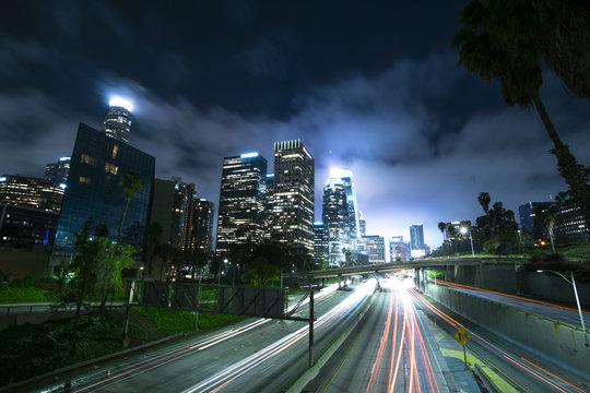 city of los angeles at night