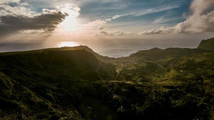 Die Küste der Insel Flores.