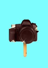 Delicious photoshooting. Sweet shots taste good. Wanna bite a piece. Camera as an icecream on the...