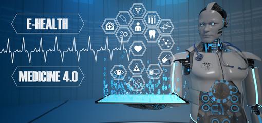 Fototapete - Robot Medicine Of The Future