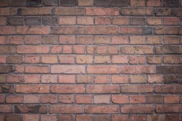 czerwona ściana cegły