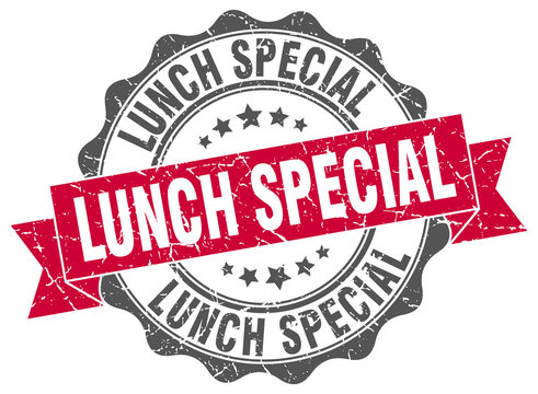 lunch special stamp. sign. seal