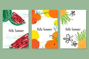 Hello Summer banner collection.