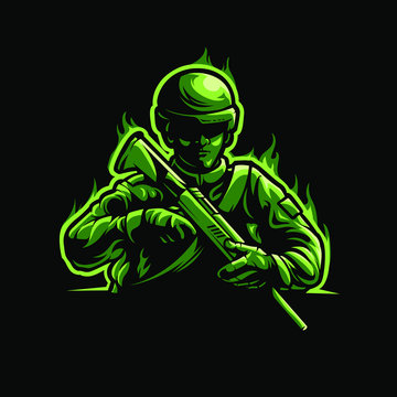army soldier logo e sport