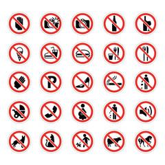 Planche de panneau interdiction