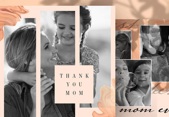 Mother's Day Social Media Post Layouts with Photo Placeholders