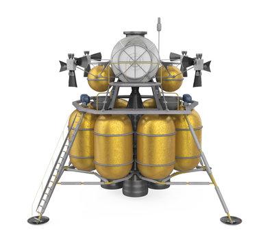 Lunar Lander Spacecraft Isolated