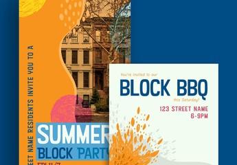 Block Party Outdoor Event Social Media Set