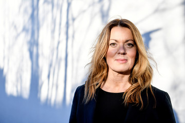 Swedish author Anne Sward poses for the picture in Stockholm