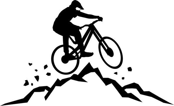 Mountain Biking Silhouette