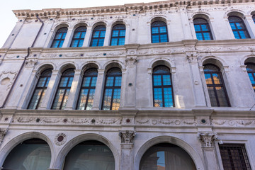 Italy, Venice, details and view of buildings in typical Venetian style.