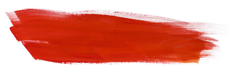 inked watercolor strip on paper red