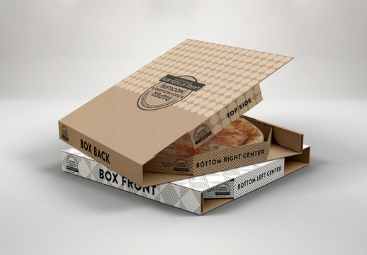 18 in Large Pizza Box Mockup
