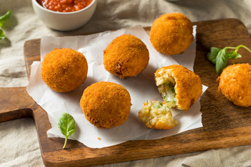Homemade Deep Fried Risotto Arancini