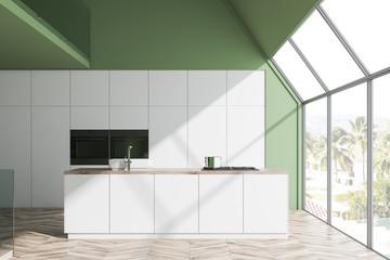 Modern style kitchen interior.