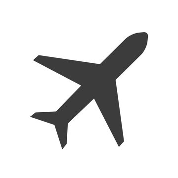 plane vector icon in modern flat style isolated. Symbol plane is good for your web design.