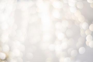 Obraz classy upscale high end, white silver, christmas holiday backdrop blurry lights. festive beautiful  - fototapety do salonu