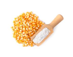 cornflour  on wooden spoon