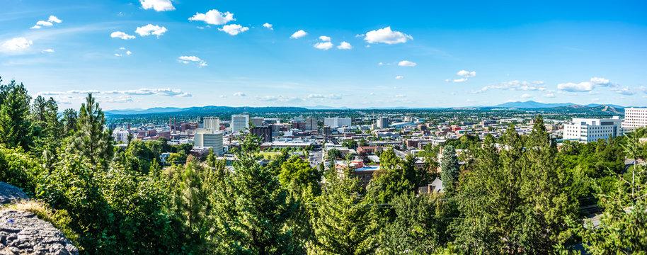 Spokane washington city skyline and spokane valley views