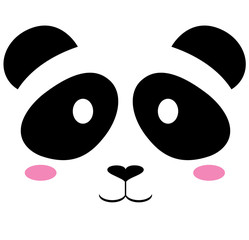 vector cute panda bear