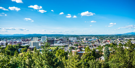 Spokane washington city skyline and spokane valley views