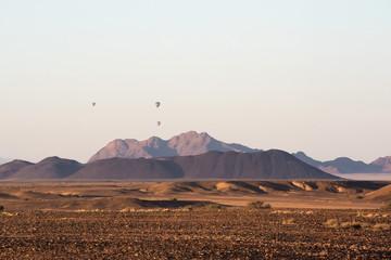 hot air balloon in Namibia