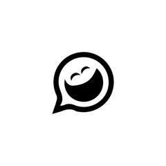 Emoji icon. Happy party sign