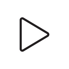 Play button icon. Video playe sign. Arrow symbol