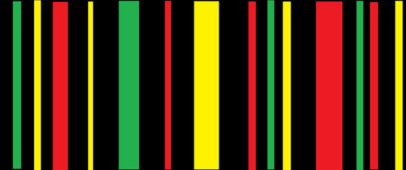 colorful background.Reggae background.Green,red and yellow on Black color.Striped color on black.