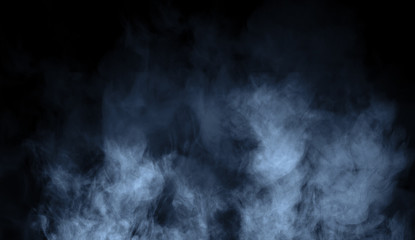 Garden Poster Smoke Abstract blue smoke steam moves on background . The concept of aromatherapy