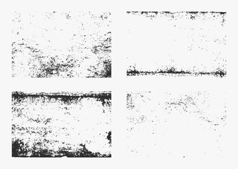 Set of monochrome abstract vector grunge textures. Wall mural