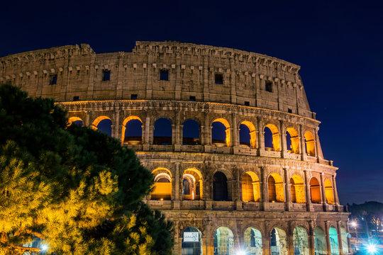Colosseum stadium building in Rome