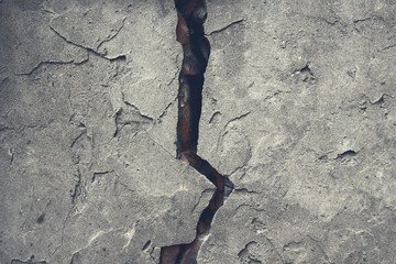 Old cracked concrete wall. Close-up. Background. Texture.