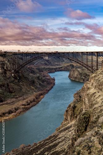 The Famous Perrine Bridge Near Twin Falls Idaho With The Snake River