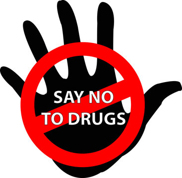 vector sign of anti drugs