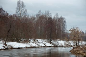 landscape -  spring  river