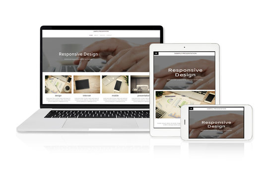 Sample responsive web design technology