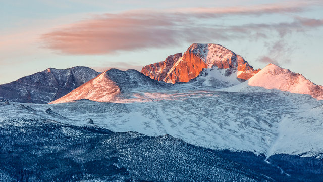 Longs Peak Spring Sunrise